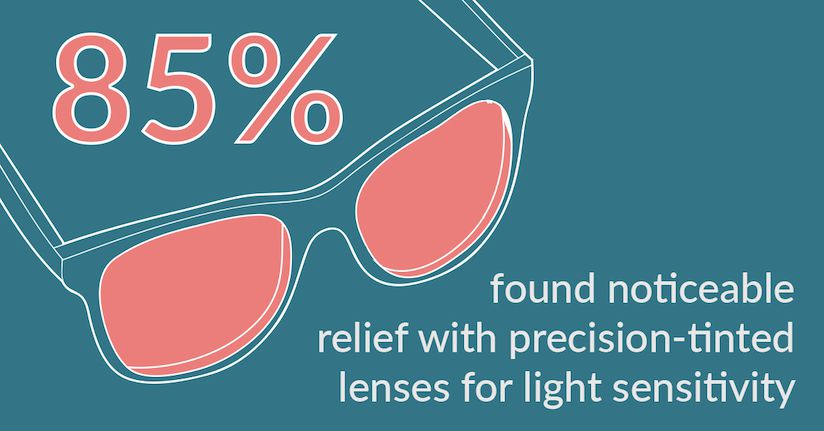 precision tinted lenses for light sensitivity relief