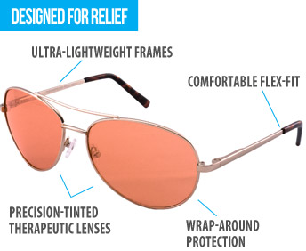 Protection and relief with TheraSpecs photophobia glasses